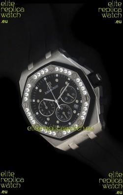 Audemars Piguet Royal Oak Offshore Lady Alinghi Swiss Watch in Black Dial