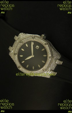 Audemars Piguet Royal Oak Ladies Watch in Black