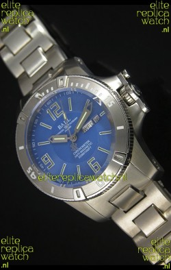 Ball Hydrocarbon Spacemaster Automatic Replica Day Date Watch in Blue Dial - Original Citizen Movement