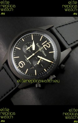 Bell and Ross BR126 Vintage Swiss Quartz Watch in PVD Casing