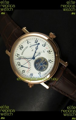 Breguet Retrograde Day/Date Japanese Automatic Watch with Tourbillon