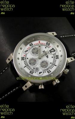 B.R.M.0011G6 Japanese Replica Quartz Watch in White Dial