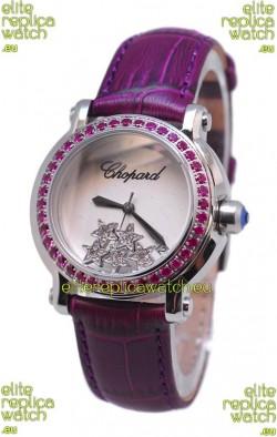 Chopard Happy Sport Star Shaped Diamonds Swiss Watch