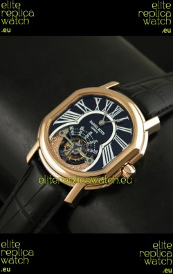 Daniel Roth Classic Tourbillon Swiss Watch in Black Strap