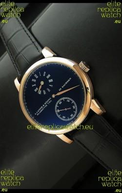 A. Lange & Sohne Glashutte In Sachskn Classic Replica Rose Gold Watch