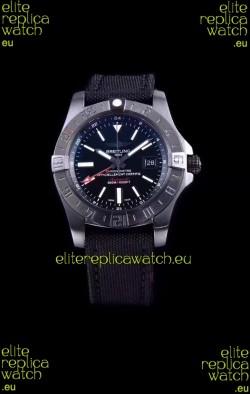 Breitling Avenger II BlackSteel GMT Swiss Replica Watch 1:1 Ultimate Swiss Replica Watch