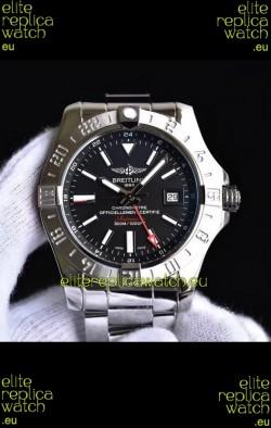 Breitling Avenger II Steel GMT Swiss Replica Watch 1:1 Ultimate Swiss Replica Watch