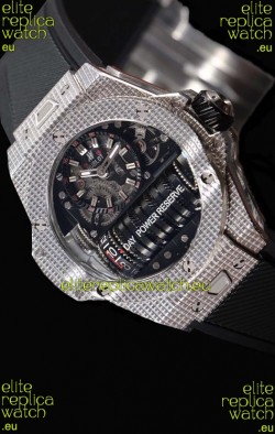 Hublot Big Bang MP-11 Power Reserve 3D Steel Carbon Replica Watch