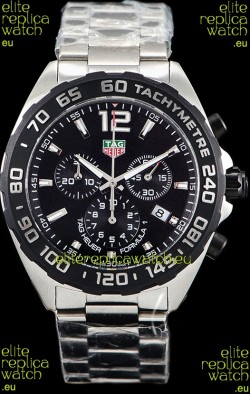 Tag Heuer Formula 1 Chronograph Swiss Quartz Replica Watch Black Dial