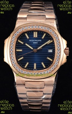 Patek Philippe Nautilus 5711/1R 1:1 Mirror Watch - Rounded Diamonds Bezel