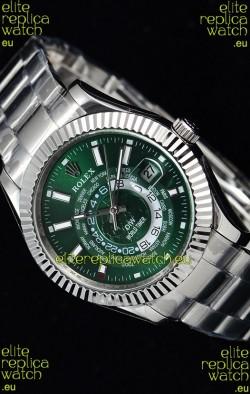 Rolex SkyDweller Swiss Watch in Steel Case - DIW Edition Green Dial