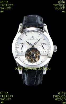 Jaeger LeCoultre Perpetual Tourbillon 904L Steel Case White Dial Swiss Replica Watch