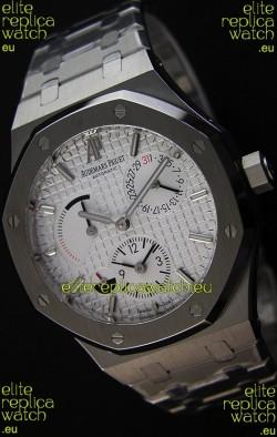 Audemars Piguet Royal Oak Dual Time Swiss Replica Watch  in White Dial