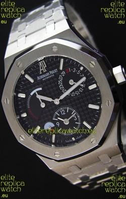 Audemars Piguet Royal Oak Dual Time Swiss Replica Watch  in Black Dial