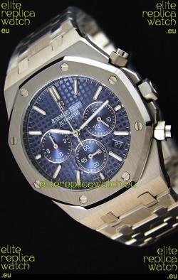 Audemars Piguet Royal Oak Chronograph Blue Dial Swiss Quartz Replica Watch  - 41MM