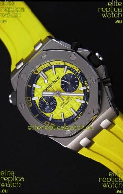 Audemars Piguet Royal Oak Offshore Diver Chronograph Swiss Quartz Replica Watch in Yellow