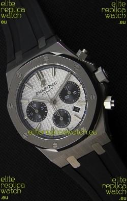 Audemars Piguet Royal Oak Chronograph White Dial Rubber Strap Swiss Replica Watch