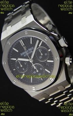 Audemars Piguet Royal Oak Chronograph Black Dial Steel Strap Swiss Replica Watch