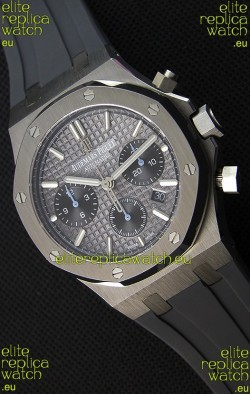 Audemars Piguet Royal Oak Chronograph Slate Grey Dial Rubber Strap Swiss Replica Watch