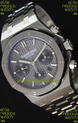 Audemars Piguet Royal Oak Chronograph Slate Grey Dial Steel Strap Swiss Replica Watch