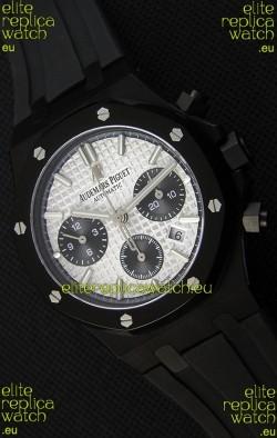Audemars Piguet Royal Oak Chronograph Silver Toned Dial Black Subdials Swiss Replica Watch