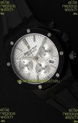 Audemars Piguet Royal Oak Chronograph Silver Toned Dial White Subdials Swiss Replica Watch