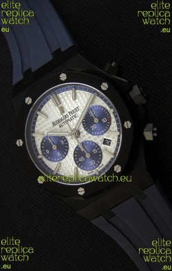Audemars Piguet Royal Oak Chronograph Silver Toned Dial Blue Subdials Swiss Replica Watch