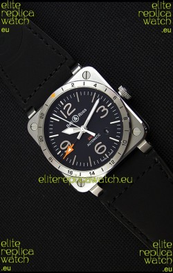 Bell & Ross BR03-93 GMT Steel Swiss Replica Watch 1:1 Edition 42MM