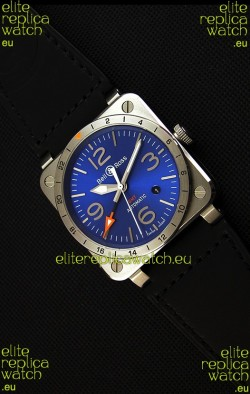 Bell & Ross BR03-93 GMT Steel Swiss Replica Watch Blue Dial 1:1 Edition 42MM
