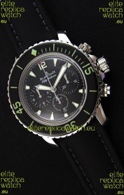 Blancpain Blancpain Fifty Fathoms Chronograph Flyback Black 1:1 Mirror Replica Watch