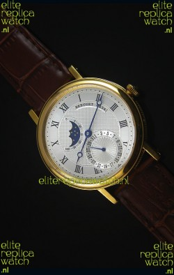 Breguet Classique Moonphase Yellow Gold Swiss Replica Watch