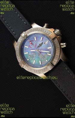 Breitling Avenger Titanium Case Swiss Replica Watch MOP Dial 1:1 Mirror Replica Watch