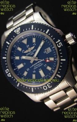 Breitling SuperOcean 44 Special Steel - Mariner Blue Swiss Replica Watch with Steel Strap