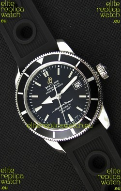 Breitling SuperOcean Heritage II B20 42MM Black Dial Black Bezel Swiss Replica Watch - 1:1 Mirror Edition