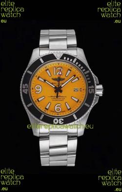 Breitling Superocean Automatic 44 Steel - Yellow Dial 1:1 Mirror Replica