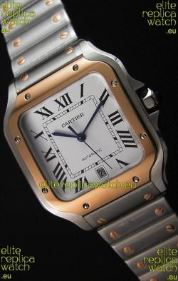 Cartier Santos De Cartier 1:1 Mirror Replica - 40MM Two Tone Steel Watch