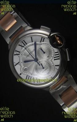 Ballon De Cartier Chronograph in Rose Gold Two Tone Case - 1:1 Mirror Replica