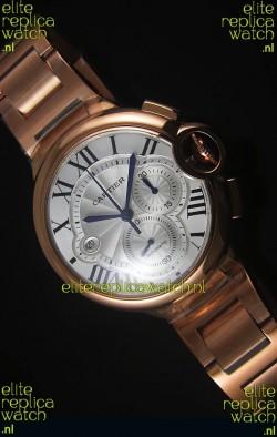 Ballon De Cartier Chronograph in Rose Gold Case - 1:1 Mirror Replica