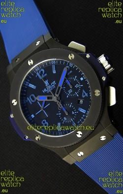 Hublot Big Bang All Black PVD Blue Swiss Replica Watch 1:1 Mirror Replica