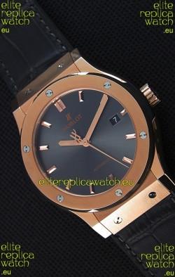 Hublot Classic Fusion Racing Grey King Gold Swiss Replica Watch - 1:1 Mirror Replica