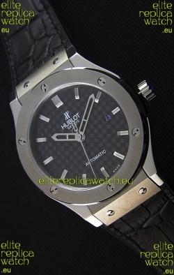 Hublot Classic Fusion Titanium Carbon Dial Swiss Replica Watch - 1:1 Mirror Replica