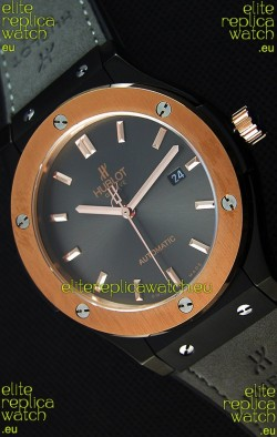 Hublot Classic Fusion Ceramic King Gold Grey Dial Swiss Replica Watch - 1:1 Mirror Replica