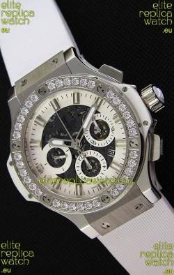Hublot Big Bang Diamonds Bezel Watch in Steel Case Swiss Replica Watch