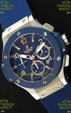 Hublot Big Bang Blue Steel Carbon Dial Swiss Replica Watch 1:1 Mirror Replica