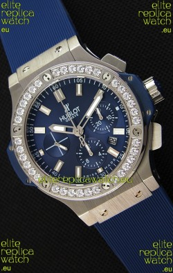 Hublot Big Bang Blue Steel Blue Dial Swiss Replica Watch 1:1 Mirror Replica