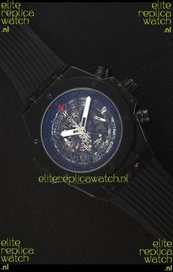 Hublot Big Bang Unico All Black Sapphire Quartz Replica Watch 45MM
