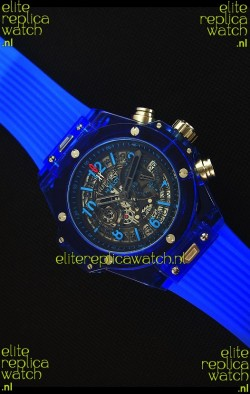 Hublot Big Bang Unico Blue Sapphire Quartz Replica Watch 45MM