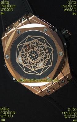 Hublot Big Bang Sang Bleu 45MM Rose Gold Swiss Replica Watch