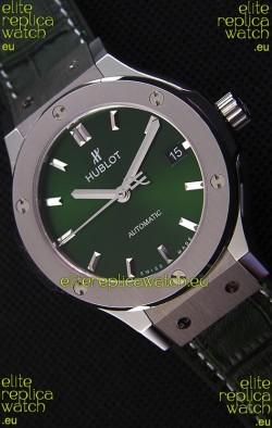 Hublot Big Bang Classic Fusion 38MM 1:1 Mirror Replica Watch Green Dial