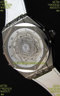 Hublot Big Bang Sang Bleu 45MM Stainless Steel White Dial  Swiss Replica Watch